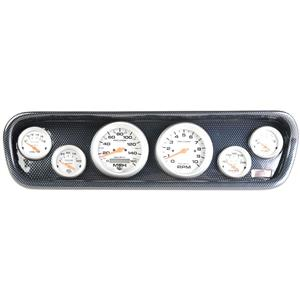 64-66 Mustang Carbon Dash Carrier w/ Auto Meter Ultra Lite Electric Gauges