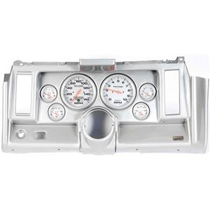"69 Camaro Silver Dash Carrier w/ Auto Meter Ultra Lite Electric 5"" Gauges"