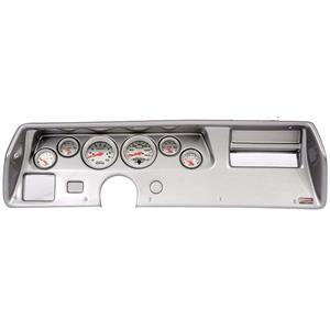 70-72 Chevelle SS Silver Dash Carrier w/ Auto Meter Ultra Lite Electric Gauges