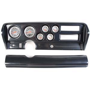 70-72 GTO Carbon Dash Carrier w/ Auto Meter Ultra Lite Electric Gauges