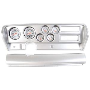 70-72 GTO Silver Dash Carrier w/ Auto Meter Ultra Lite Electric Gauges