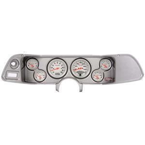 70-78 Camaro Silver Dash Carrier w/ Auto Meter Ultra Lite Electric Gauges