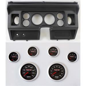"80-86 Ford Truck Black Dash Carrier w/ 3-3/8"" Concourse Series Black Gauges"