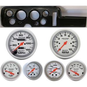 68 GTO Carbon Dash Carrier w/ Auto Meter Ultra Lite Mechanical Gauges
