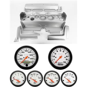 70-74 Mopar E-Body Silver Dash Gauge Carrier Auto Meter Phantom Electric Gauges