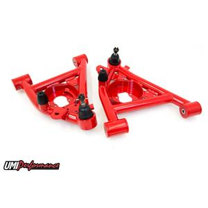 UMI Performance 3031-R GM G-Body UMI Performance Lower Front Control Arms Poly Bushings - Red