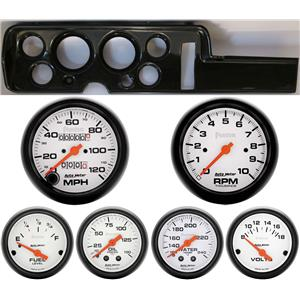 68 GTO Carbon Dash Carrier w/ Auto Meter Phantom Mechanical Gauges