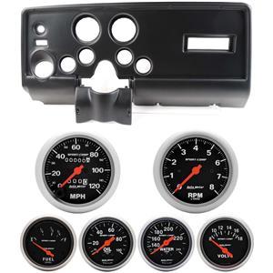 69 Pontiac Firebird Black Dash Carrier Auto Meter Sport Comp Mechanical Gauges