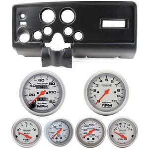 69 Pontiac Firebird Black Dash Carrier Auto Meter Ultra Lite Mechanical Gauges