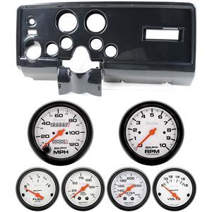 69 Pontiac Firebird Carbon Dash Carrier w/ Auto Meter Phantom Mechanical Gauges