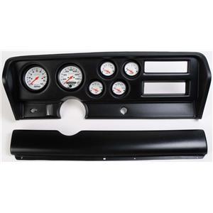 70-72 GTO Black Dash Carrier w/ Auto Meter Phantom Electric Gauges