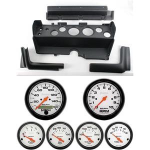 70-74 Mopar E-Body Black Dash Gauge Carrier Auto Meter Phantom Electric Gauges
