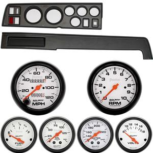 Classic Dash 718681411 Mopar B Body Black Dash Carrier Panel w/ Phantom Mechanical Gauges