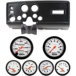 69 Pontiac Firebird Black Dash Carrier w/Auto Meter Phantom Mechanical Gauges