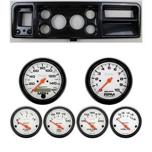 "73-79 Ford Truck Carbon Dash Carrier Auto Meter 3-3/8"" Phantom Electric Gauges"