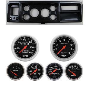 73-79 Ford Truck Carbon Dash Carrier w/ Auto Meter Sport Comp Mechanical Gauges