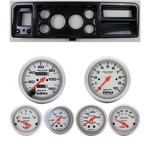 73-79 Ford Truck Carbon Dash Carrier w/ Auto Meter Ultra-Lite Mechanical Gauges
