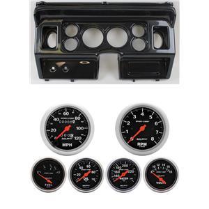 80-86 Ford Truck Carbon Dash Carrier w/ Auto Meter Sport Comp Mechanical Gauges