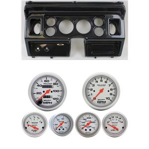 80-86 Ford Truck Carbon Dash Carrier w/ Auto Meter Ultra-Lite Mechanical Gauges