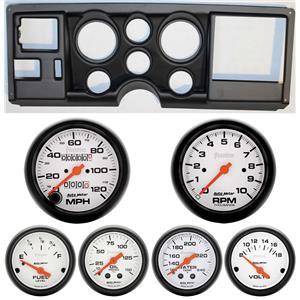 88-94 GM Truck Black Dash Carrier w/Auto Meter Phantom Mechanical Gauges