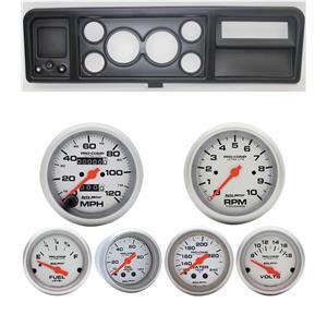 73-79 Ford Truck Black Dash Carrier w/ Auto Meter Ultra-Lite Mechanical Gauges