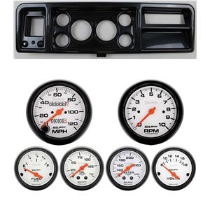 73-79 Ford Truck Carbon Dash Carrier w/ Auto Meter Phantom Mechanical Gauges