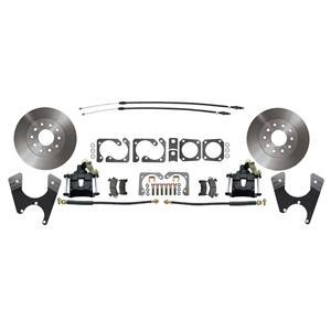 MBM GM 10/12 Bolt Staggered Rear Disc Brake Kit Standard Rotor Black Caliper