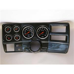"73-83 GM Truck Carbon Dash Carrier w/ Auto Meter 5"" Sport Comp Mechanical Gauges"