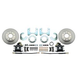 "MBM Mopar 8 3/4"" Dana 60 11"" Rear Disc Brake Kit Plain Rotor Black Caliper"