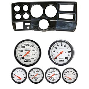 "73-83 GM Truck Carbon Dash Carrier w/ Auto Meter 5"" Phantom Mechanical Gauges"