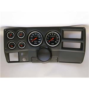 "73-83 GM Truck Black Dash Carrier w/ Auto Meter 5"" Sport Comp Mechanical Gauges"