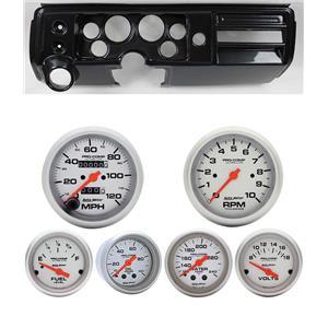 "68 Chevelle Carbon Dash Carrier Auto Meter 3-3/8"" Ultra-Lite Mechanical Gauges"