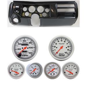 "69 Chevelle Carbon Dash Carrier Auto Meter 3-3/8"" Ultra-Lite Mechanical Gauges"