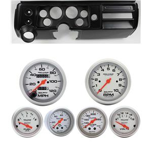 "68 Chevelle Black Dash Carrier w/ Auto Meter 3-3/8"" Ultra-Lite Mechanical Gauges"