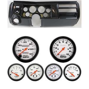 "69 Chevelle Carbon Dash Carrier w/ Auto Meter 3-3/8"" Phantom Mechanical Gauges"