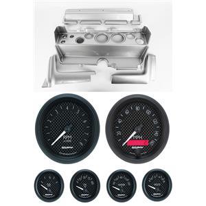 70-74 Mopar E-Body Silver Dash Gauge Carrier Auto Meter GT Gauges