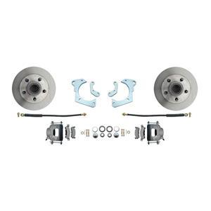59-64 Chevy Full Size Front Disc Brake Wheel Kit Standard Rotor Raw Caliper
