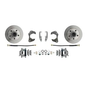 65-68 Chevy Full Size Front Disc Brake Wheel Kit Standard Rotor Raw Caliper