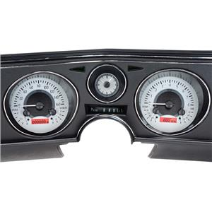 Dakota Digital 69 Chevy Chevelle Analog Gauges Silver Red VHX-69C-CVA-S-R