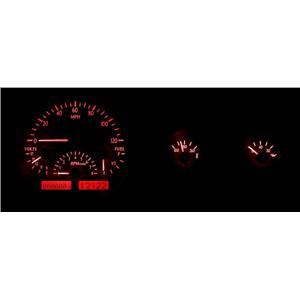 55-86 Jeep CJ VHX System, Silver Face - Red Display