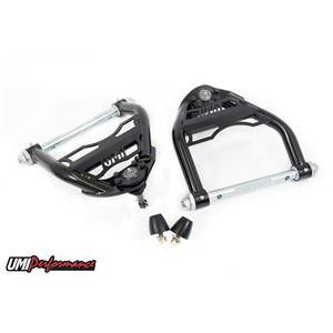 "UMI Performance 4033-1-B GM A-Body UMI Upper Front Control Arm Kit 1/2"" Taller Ball Joint - Black"