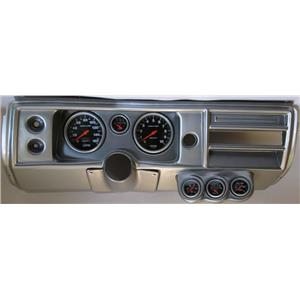 "68 Chevelle Silver Dash Carrier 5"" Sport Comp Mechanical Gauges No Astro"