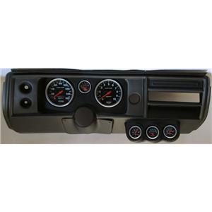 """68 Chevelle Black Dash Carrier Auto Meter 5"""" Sport Comp Electric Gauges No Astro"""