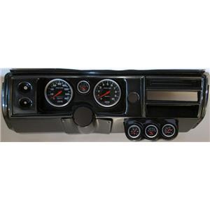 """68 Chevelle Carbon Dash Carrier 5"""" Sport Comp Mechanical Gauges No Astro"""