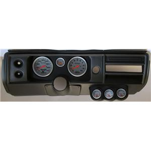 "68 Chevelle Black Dash Carrier 5"" Ultra Lite Mechanical Gauges No Astro"