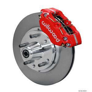 "Wilwood 65-69 Ford Front Disc Brake Kit 11"" Plain Rotor Red Caliper"
