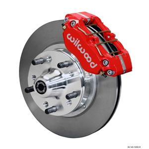 "Wilwood 64-72 Chevelle A-Body Front Disc Brake Kit 11"" Plain Rotor Red Caliper"
