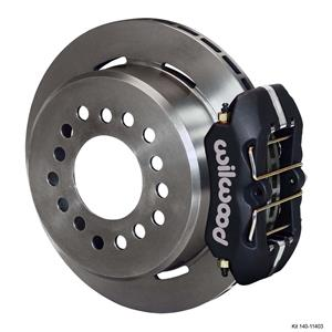 "Wilwood Rear Disc Brake Kit Small Ford 9"" w/ 2.5"" Offset 11"" Plain Black Caliper"