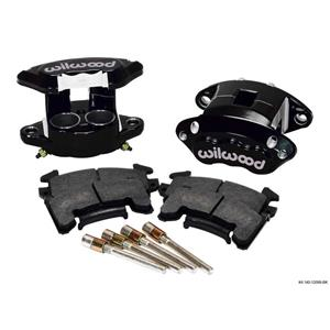 "WILWOOD # 140-1209 D154 CALIPERS & PADS FRONT DUAL PISTON 1.04"" BLACK"