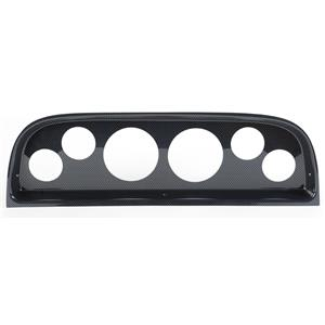"""60-63 Chevy Truck Carbon Dash Carrier Panel for 3-3/8"""", 2-1/16"""" Gauges"""